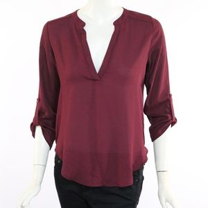 Lush Small Red/Burgundy Blouse